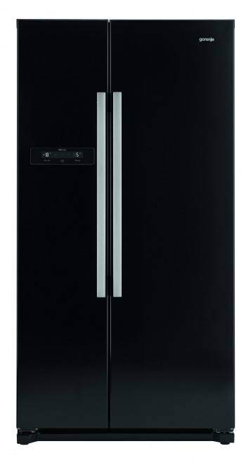 gorenje side by side k hlschrank schwarz nrs9182bbk mp. Black Bedroom Furniture Sets. Home Design Ideas